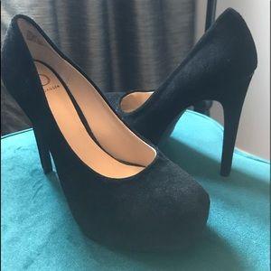 FINAL PRICE! Kelsi Dagger Black suede heels